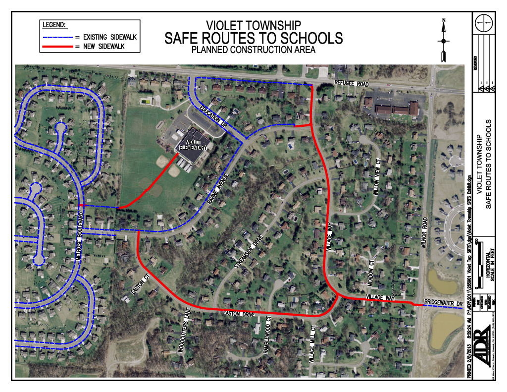 Safe Routes to School planned construction area