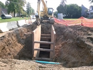 Storm Sewer Trunk Line, under construction
